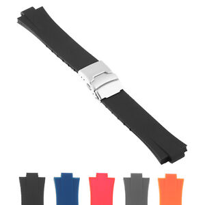 Strapsco Silicone Rubber Watch Band Strap for Oris Aquis