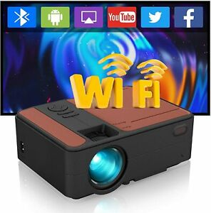 Smart HD Android Projector Wifi Bluetooth Video Home Theater HDMI Night Miracast