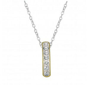 Montana Silversmiths NC1133 Crystal Shine in Gold Hanging Bar Necklace