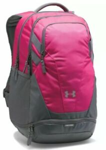 UA Team Hustle Backpack Under Armour Storm Tropic Pink & Gray NWT