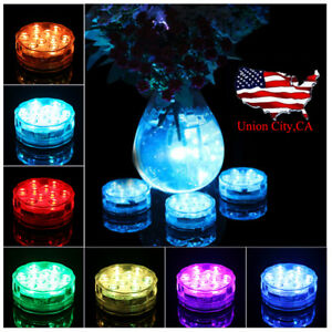 10 LED Waterproof Submersible Light RGB for Vase Wedding Party Fish Tank Decor