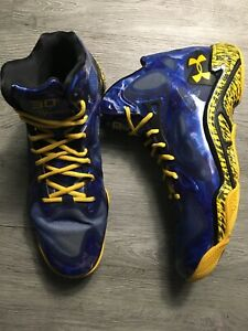 "Under Armour Stephen Curry Anatomix Spawn ""Blue Splash"" PE Sz 13 Men Royal Taxi"