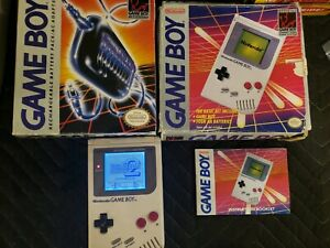 Backlit Modded Nintendo Gameboy In Box W AC Adapter in Box plus Super Mario 2