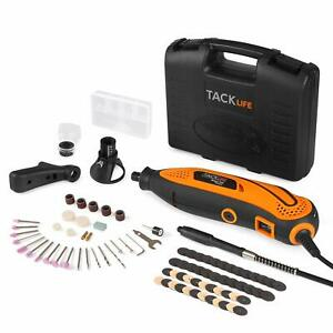 TACKLIFE Rotary Tool Kit Variable Speed with Flex shaft, 80 Accessories, 3 Attac