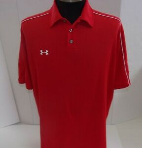 Under Armour golf polo shirt M red short sleeve $14.99