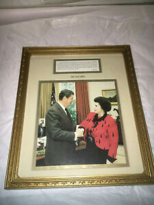 President Ronald Reagan Oval Office White House  Framed Photo Picture