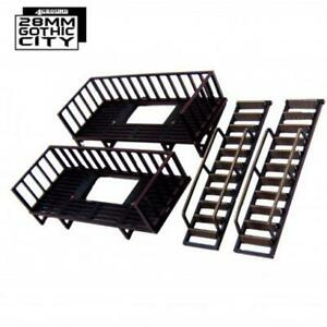 4Ground 28mm Gothic City Fire Escape Extra Floors (Pre-Painted) Pack MINT