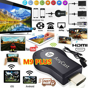 AnyCast M9 Plus WiFi Display Dongle Receiver Airplay Miracast HDMI TV 1080P !