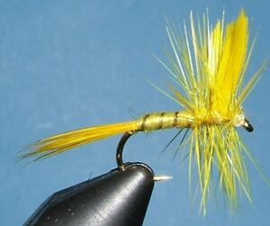 Yellow Sally;12 dry fly; sizes 12 14