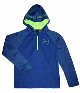 Under Armour Boys Youth Athletic Storm Fleece Hoodie Water Resistant small 8 $44.99