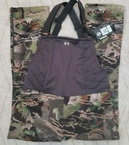 New Under Armour Hunting Bib Mid Season Womens Large Forest Camo 1316697-940