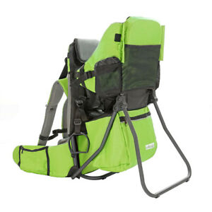 Clevr Baby Toddler Backpack Camping Hiking Child Kid Carrier w Shade Visor Green