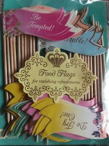 Alice in Wonderland cupcake toppers; Mad Hatter Tea Party; food picks; Birthday