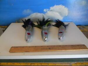 LOT OF 3 RED- EYED CHROME BULLET HEAD  16 0Z. WAHOO & BIG GAME TROLLING LURE