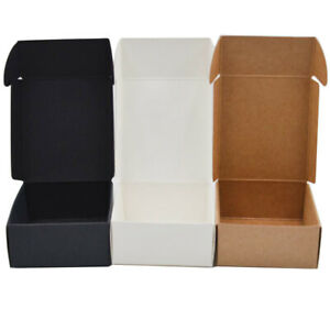 Craft Jewelry Handmade Wrapping Candy Storage Cardboard Package Kraft Paper Box