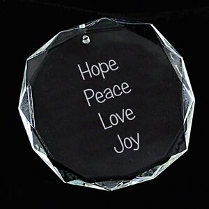 Crystal Ornament ~ Round Facet ~ Custom Engraved