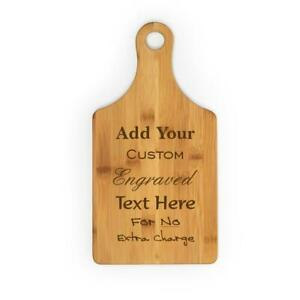 Wine Bottle Shape Bamboo Cutting Board ~ Custom Engraved