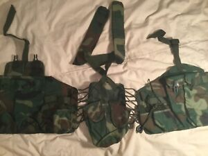 Rare Chinese woodland pattern type 81 chest rig surplus