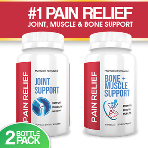 2 BOTTLE PACK  #1 SELLING JOINT, BONE & MUSCLE PAIN RELIEF Pharmacist Formulated