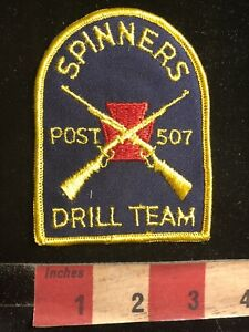 Vintage SPINNERS POST 507 DRILL TEAM Patch Crossed Rifles 98WF