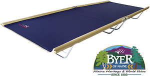 BYER OF MAINE Allagash Plus Cot Lightweight Extra Wide Camping Cots for Adult...