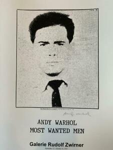 Andy Warhol Most wanted men No. 13 Joseph F 1964 Hand signed very rare