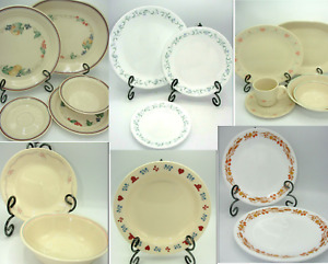 Corelle Corning Ware Coordinates Dishes Dinner Plates Salad Cereal Bowl Assorted