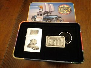 ZIPPO CAR AND KEYRING COLLECTIBLE OF THE YEAR ZIPPO LIGHTER MINT 1998