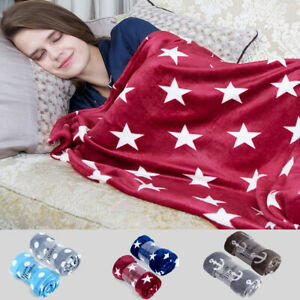 Throw Blanket Printed Soft Fleece Lightweight For Sofa Couch Bed 50 x 60 inches