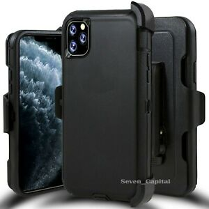 For iPhone 11 11 Pro Max Case w Screen & Belt Clip Fits Otterbox Defender Black