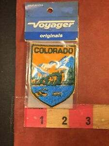Vtg Colorado Rocky Mountain State Souvenir Patch In Voyager Brand Package 77A1