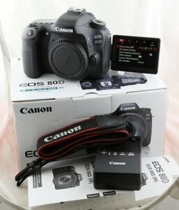 Shutter only 1885! Fast Free Shipping! Canon EOS 80D 24.2MP Digital SLR Camera