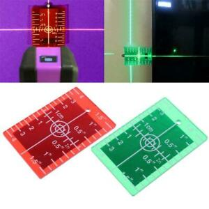 Laser Target Card Plate inch cm for Green and Red Laser Level Target Plate