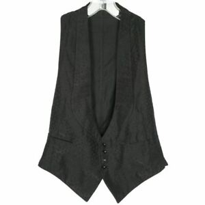 Antique Vest Edwardian Waistcoat Mens Woven Silk and Cotton Size Small