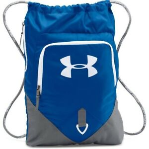 UNDER ARMOUR Undeniable Sackpack Backpack One Size BlueGrayWhite NWT