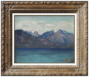 Frederick Judd Waugh Original Oil Painting On Board Antique Seascape Signed Art $2995.00
