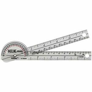 12 1005HR Plastic Goniometer Pocket Style Hires 180 Degree Head 6quot; Arms Test $15.07