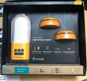 BioLite PowerLight and SiteLight Bundle. Brand new in box fast shipping