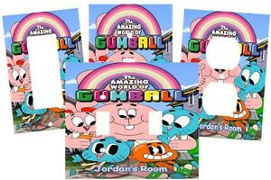 PERSONALIZED AMAZING WORLD OF GUMBALL KIDS CARTOON SWITCH PLATE COVER HOME DECOR