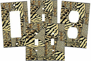 PERSONALIZED WILD ANIMAL PRINT ZEBRA CHEETAH PATCH WORK SWITCH PL