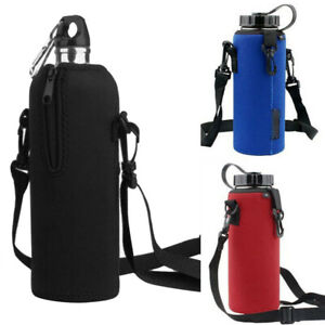 1L Water Bottle Carrier Bag Insulated Holder Cover Pouch with Adjustable Strap $9.49