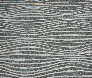Abstract Wavy Continuous Long Lines Harmony Rug Home Design Marble Mosaic