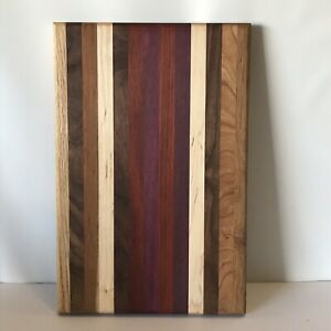 AMISH Made Cutting Cheese Board Multiple Hardwoods Wisconsin Hand Crafted