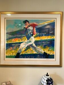 LeRoy Neiman and Joe DiMaggio signed lithograph. Hand signed by both. Mint