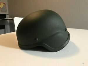 Large Airsoft Green MICH Helmet with Pads and Chin Strap