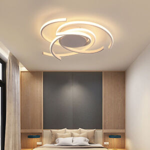 White Modern LED Ceiling Lamp Dimmable Bedroom Kitchen Decor Lighting Fixtures $159.99