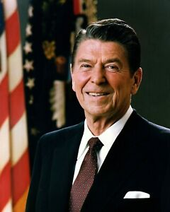 President Ronald Reagan In Oval Office Portrait 1981 Glossy 8x10 Photo