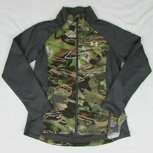 Under Armour Womens Infrared Coldgear Forest Camo Jacket New Zip Up Coat $149 $64.99