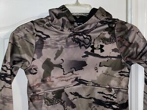 Under Armour Boys Icon Camo Hoodie Size Youth XS.