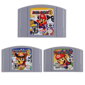 Nintendo N64 Game Mario Party 3 2 1 Video Game Cartridge Console Card US Version